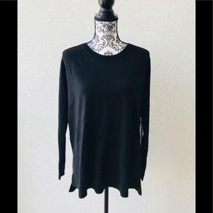 😍NWT Lord&taylor 💯 Merino wool sweater black M